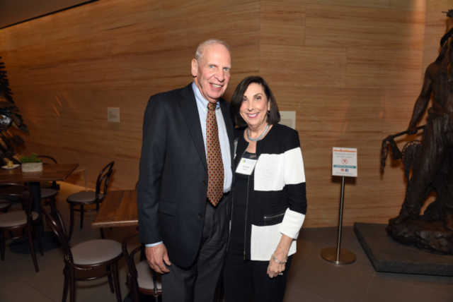 Board member Dick Dobkin and Francine Dobkin